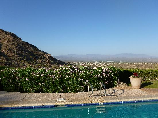 CopperWynd Resort & Spa: the view from the lap pool