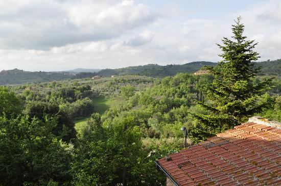 Le Casine di Castello: Bedroom with a view: Overlooking Tuscan countryside