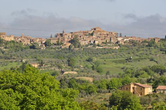 Le Casine di Castello: Castelmuzio perched on its hilltop