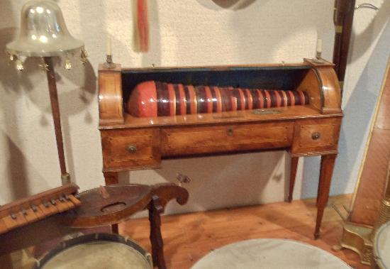 National Music Museum : Glass harmonica invented by Ben Franklin