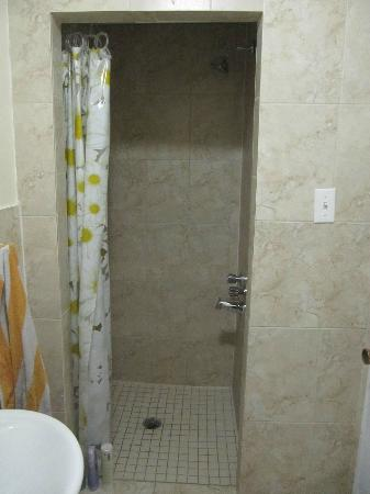 Hotel Bon Accueil: Shower