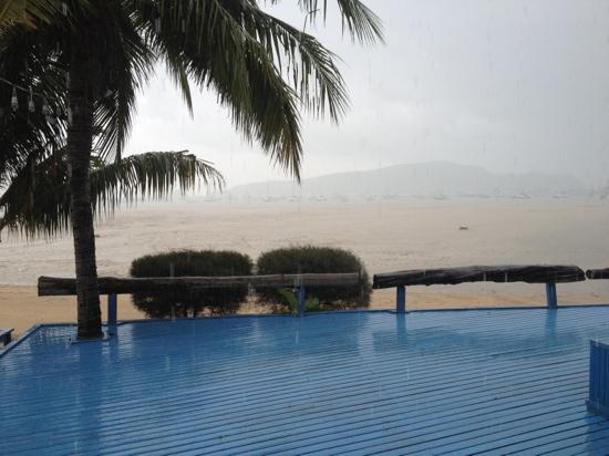 Aochalong Villa & Spa: view from our porch during a storm