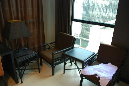 โรงแรม มิราม่า: Вид из окна