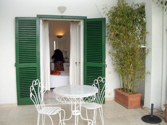 Villa Rosa : Our large private terrace garden...