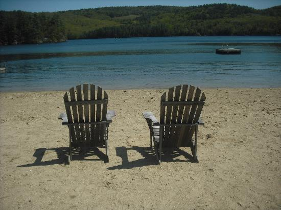 Cottage Place on Squam Lake: private beach
