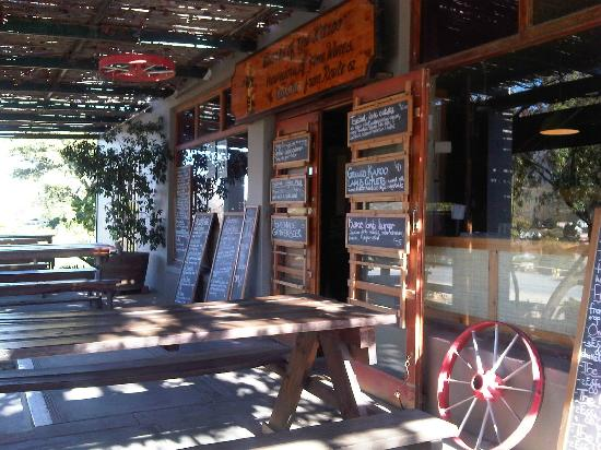 Clarke of the Karoo: Outside seating area - lovely in the sunshine