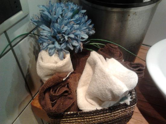 Pasticceria Ferretti: Asciugamani in bagno!