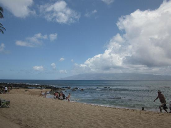 Napili Surf Beach Resort: The part of the beach where sea turtles like to hang out