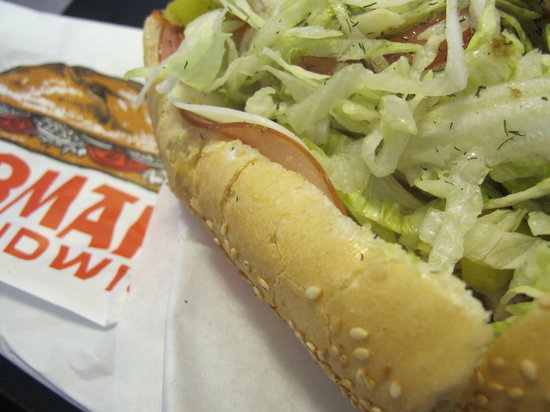 Logan's Heroes: Get your sandwich as they make it - I promise, it's delicious
