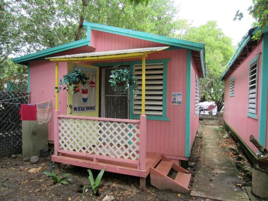 Naniqui by the Bay: Pink cabins.
