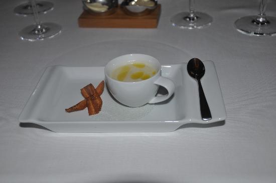 Rhodes Twenty10: A gorgeous parsnip soup amuse bouche