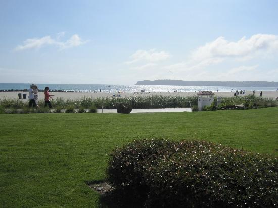 Hotel del Coronado: The view from my patio, looking northwest