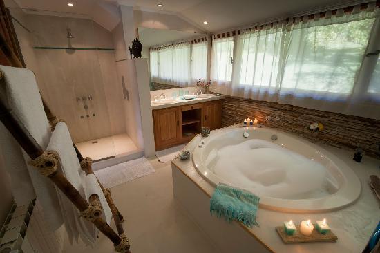 Millaqueo Luxury Villa: baño suite agua