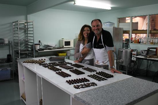 ‪‪Brenton Lodge‬: Chocolate making at Brenton Lodge‬