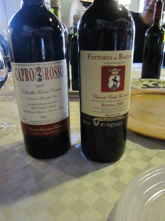 Tuscan Wine Tours with Angie : Wine we tried at the Fattoria di Bagnolo winery