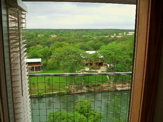 Gruene River Inn: View out the back door to the balcony