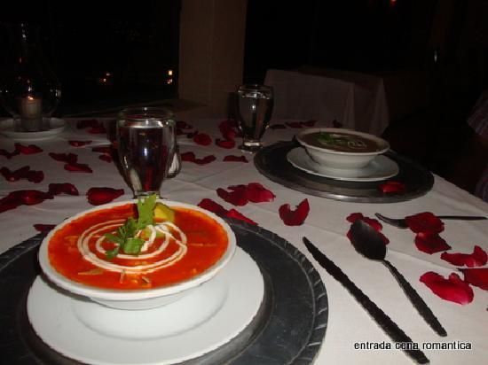 Mirador del Frayle Hotel: cena romantica entrada