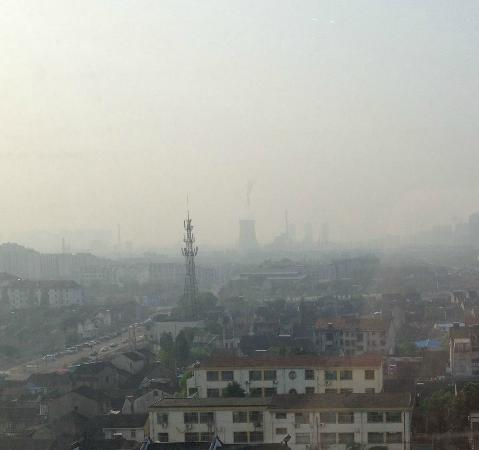 Hotel Nikko Wuxi: The Nuclear Plant in the foreground