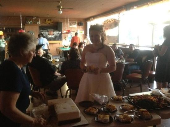 Canyon Bar & Grill: The blushing bride!