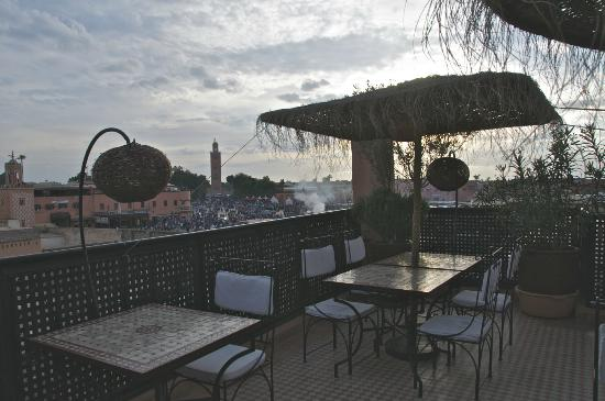 Riad Andalla : Roof terrace.