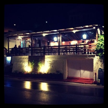 Dionysos : outside of the restaurant