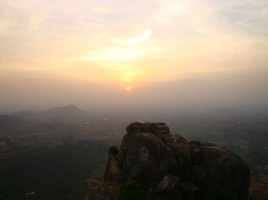 Chittoor, Índia: Sunset point in Horsley Hills