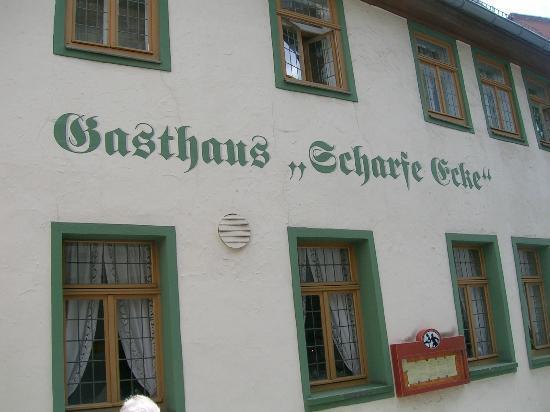 Scharfe Ecke Weimar: Bild von außen