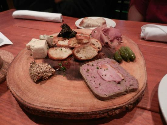 G2B Restaurant and Brewery: Appetizers: Duck Pate, Blue Cheese , Prosciutto