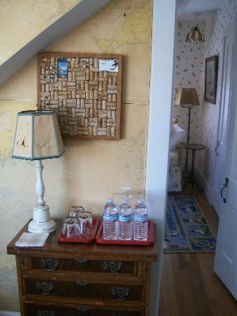 The Terraces: Bottled water provided, note door into smaller room