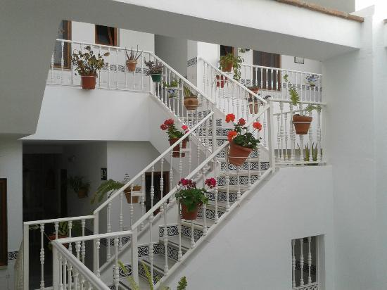Apartamentos Pepe Mesa: Staircase leading up to the terrace