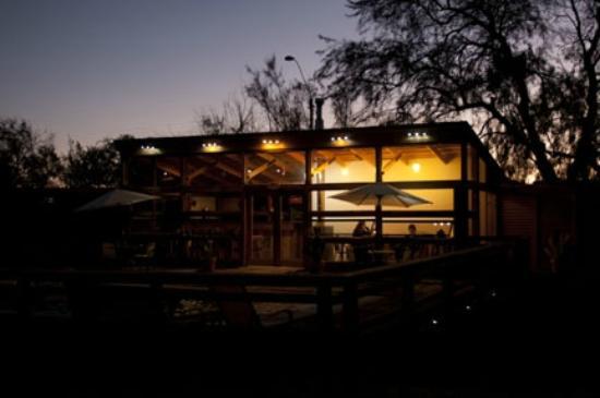 "Hotel La Cochera: ""cafe"" at night"