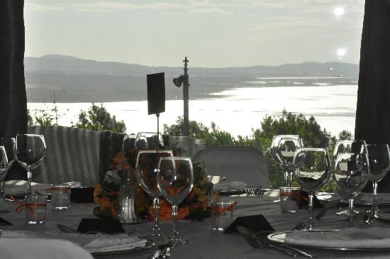 Punta Ballena, Uruguay: Salón Laguna listo para la cena