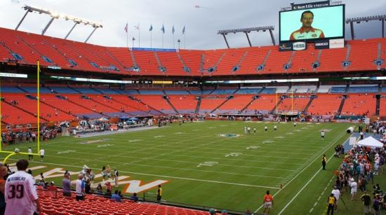 Sun Life Stadium: Dentro del estadio