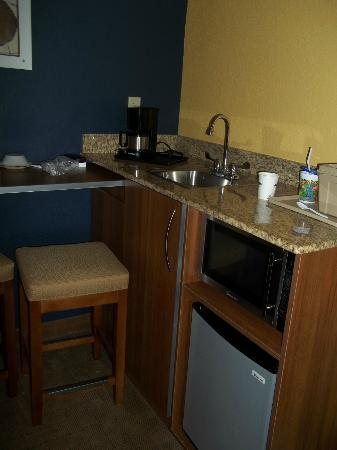 Microtel Inn & Suites by Wyndham Chili/Rochester Airport: Bar eating area in room