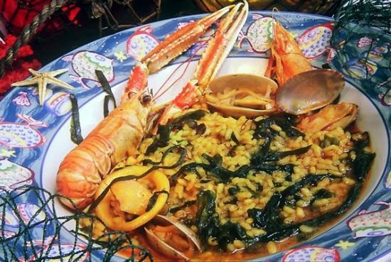 Casa Jaime: Arroz caldoso de Pescadores con 4 tipos de Algas