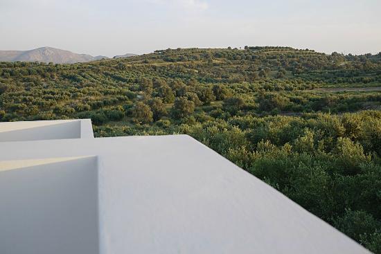 Niriida Guest House: Umgebung im Abendlicht von der Dachterasse gesehen