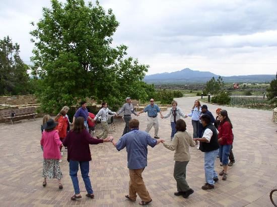 Circle dance in the Anasazi heritage Center Plaza