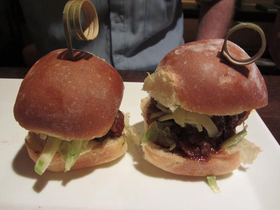 The Ritz Carlton Cafe 4750: Steak Sliders (Son ate one already)