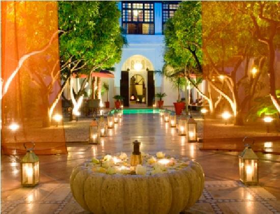 Riad Charai: Le magnifique patio..