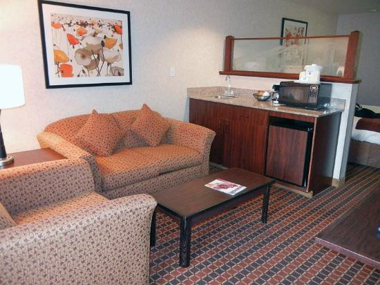 Crystal Inn Hotel & Suites Salt Lake City - Downtown: living room/kitchenette