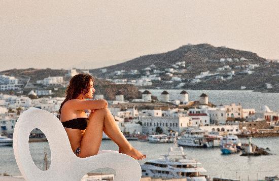 Kouros Hotel & Suites : Mykonos view from Kouros