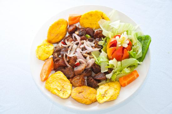 Typical Haitian Dish Griot Picture Of Wahoo Bay Beach Hotel