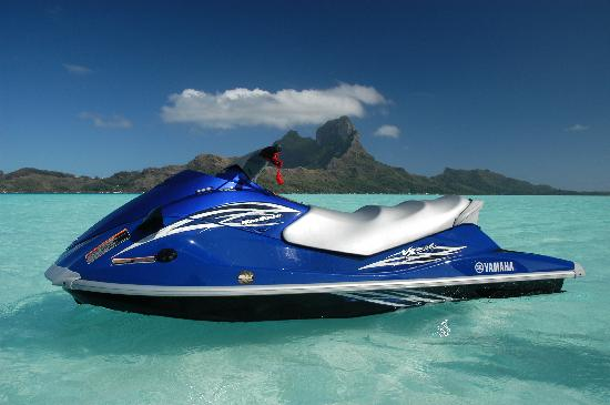Vaitape, French Polynesia: Drive our new Yamaha Jet ski