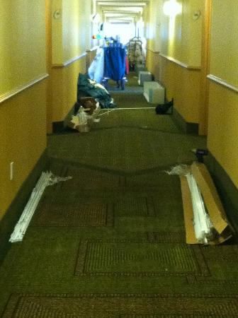La Quinta Inn & Suites Salt Lake City Airport: 2nd floor hallway where I was assigned a room