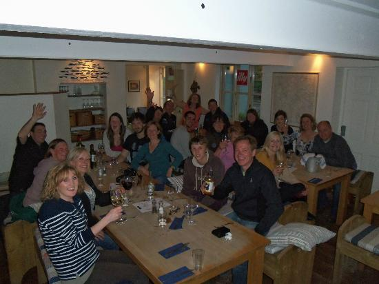 The River Cafe B&B: Our group having a great evening at The River Cafe