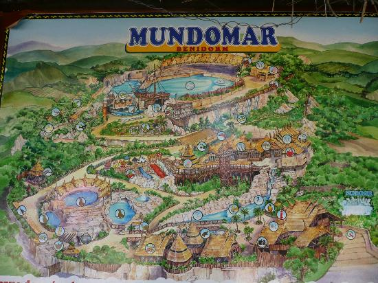 park map Picture of Mundomar Benidorm TripAdvisor