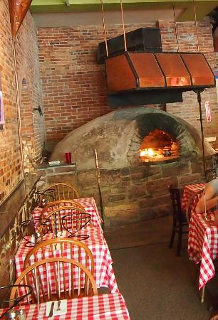 open brick-oven kitchen