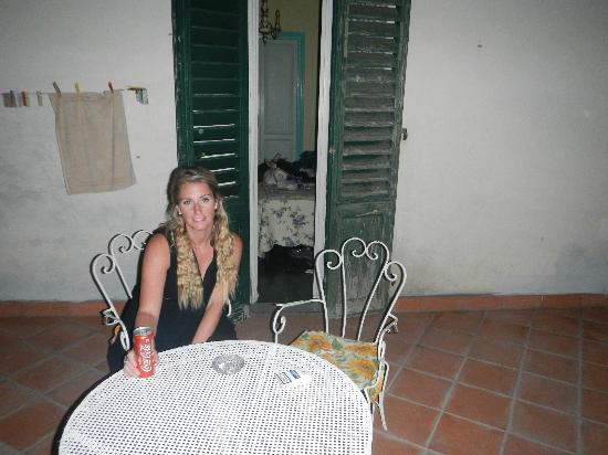 Hotel Il Bargellino: My wife enjoying our table outside the room