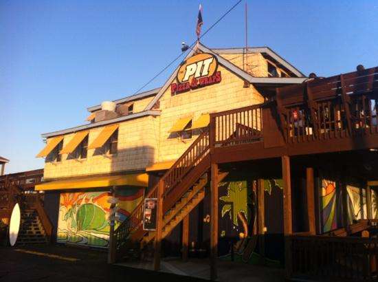 The Pit - Boardriders Grill: great food and fun times up the stairs!