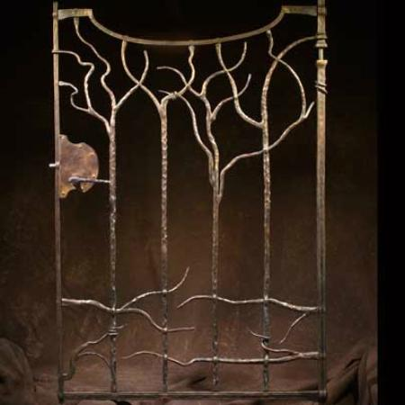 Borromeo Forge - Artisan Metalwork Gallery: Bronze Garden Gate in Carmel by the Sea